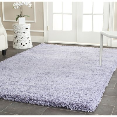 Holliday Hand-Woven Purple Area Rug Rug Size: Rectangle 76 x 96