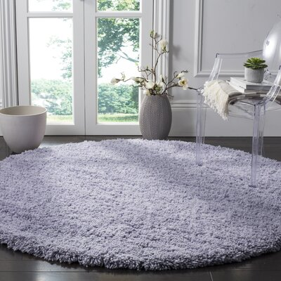 Boice Lilac Area Rug Rug Size: Round 4
