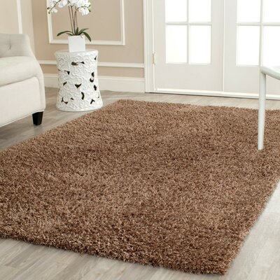 Boice Light Brown Area Rug Rug Size: Round 5