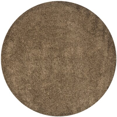 Holliday Light Brown Area Rug Rug Size: Round 7