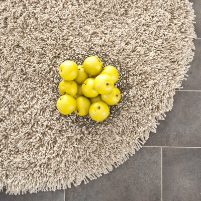 Holliday Taupe Area Rug Rug Size: Round 4