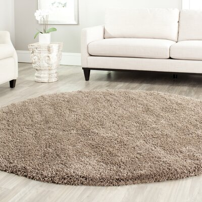 Boice Taupe Area Rug Rug Size: Round 4