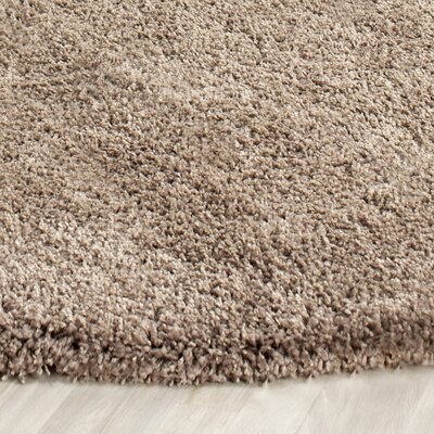 Boice Taupe Area Rug Rug Size: Round 67