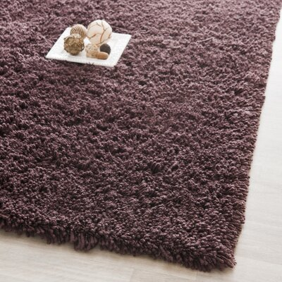 Holliday Modern Chocolate Area Rug Rug Size: 86 x 116