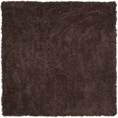 Holliday Modern Chocolate Area Rug Rug Size: Square 7