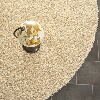 Holliday Creme Area Rug Rug Size: Round 7