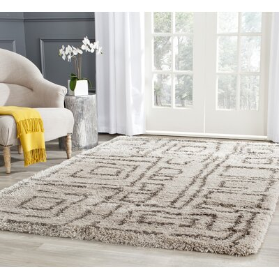 Holliday Taupe/Gray Area Rug Rug Size: Rectangle 4 x 6