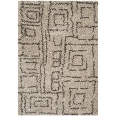 Holliday Taupe/Gray Area Rug Rug Size: 4 x 6