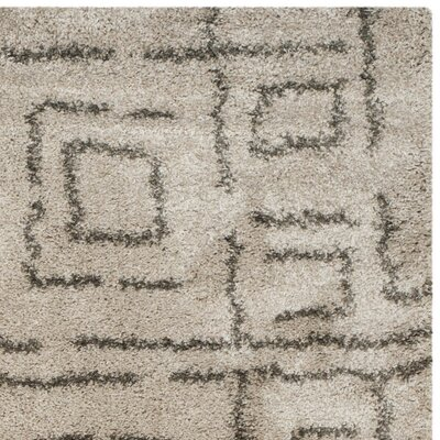 Boice Taupe/Gray Area Rug Rug Size: 8 x 10
