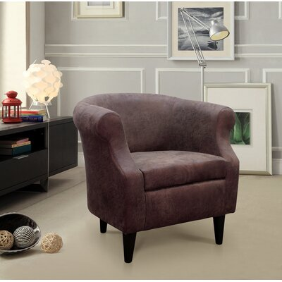 Dondre Barrel Chair Upholstery: Dark Brown