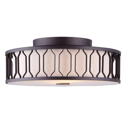 Salzman 2-Light Semi Flush Mount Finish: Oil Rubbed Bronze
