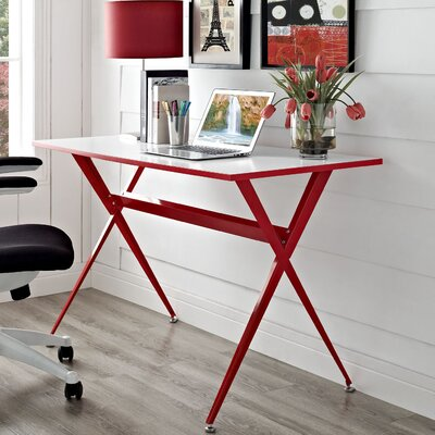 Boisvert Writing Desk Finish: Red