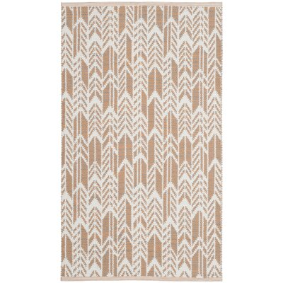 Paz Hand-Woven Orange/Ivory Area Rug Rug Size: 3 x 5