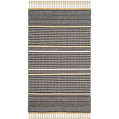 Granada Hand-Woven Gold/Gray Area Rug Rug Size: Rectangle 8 x 10