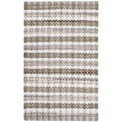 Ingleside Hand-Woven Beige/Gray Area Rug Rug Size: 2 x 3