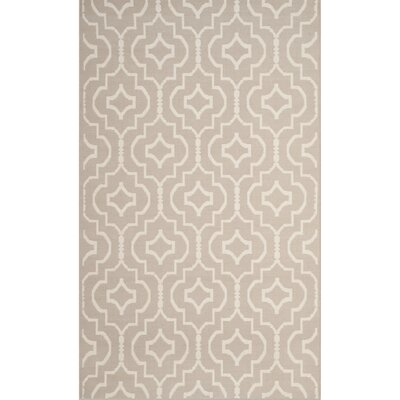 Rennie Hand-Woven Gray/Ivory Area Rug Rug Size: Rectangle 4 x 6