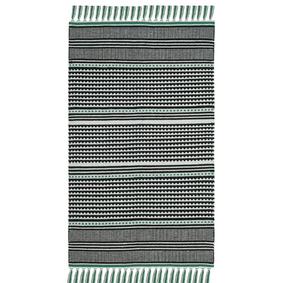 Granada Hand-Woven Teal/Gray Area Rug Rug Size: Rectangle 5 x 8