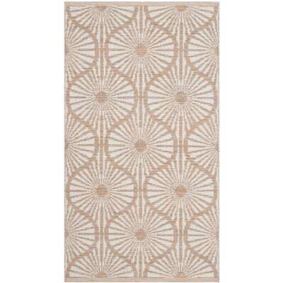 Oak Hill Hand-Woven Orange/Ivory Area Rug Rug Size: 5 x 8