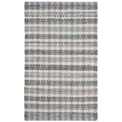 Ingleside Hand-Woven Gray/Beige Area Rug Rug Size: Rectangle 8 x 10