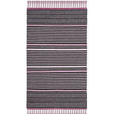 Granada Hand-Woven Pink/Gray Area Rug Rug Size: Rectangle 8 x 10