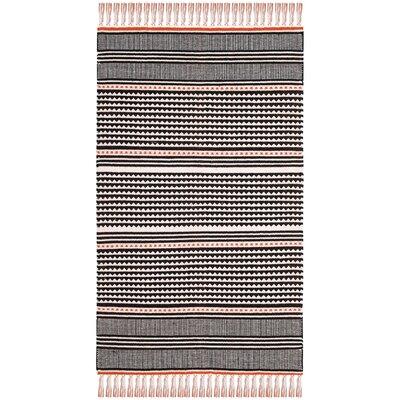 Granada Hand-Woven Orange/Beige Area Rug Rug Size: Runner 23 x 7