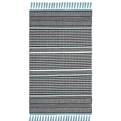 Granada Hand-Woven Turquoise/Gray Area Rug Rug Size: Rectangle 5 x 8