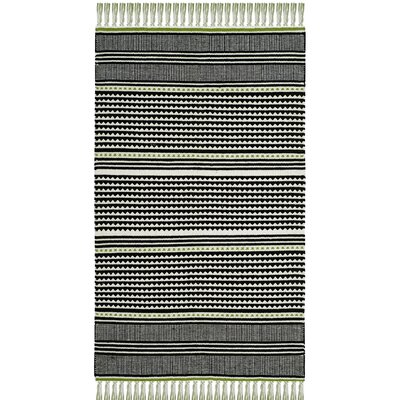 Granada Hand-Woven Green/Gray Area Rug Rug Size: Rectangle 5 x 8