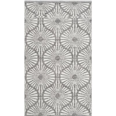 Oak Hill Hand-Woven Charcoal/Ivory Area Rug Rug Size: Rectangle 3 x 5