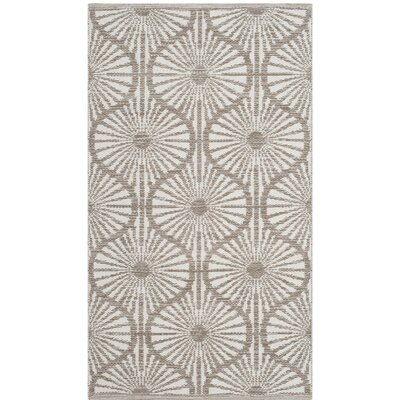 Oak Hill Hand-Woven Beige/Ivory Area Rug Rug Size: Rectangle 5 x 8