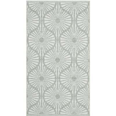 Oak Hill Hand-Woven Light Green/Ivory Area Rug Rug Size: 5 x 8