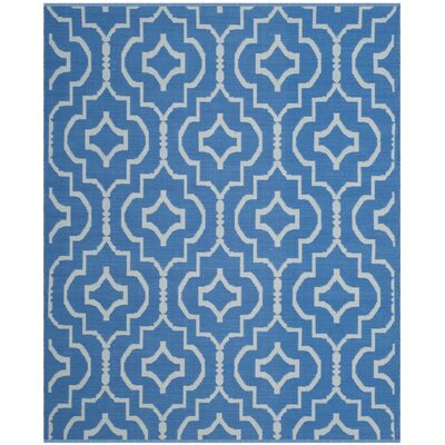 Rennie Hand-Woven Blue/Ivory Area Rug Rug Size: Rectangle 4 x 6