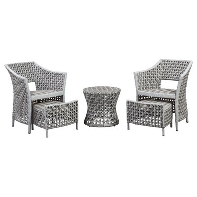 Boland Outdoor 5 Piece Lounge Seating Group