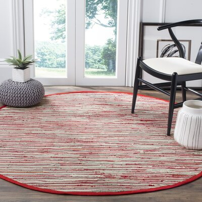 Shatzer Hand-Woven Red Area Rug Rug Size: Rectangle 5 x 8