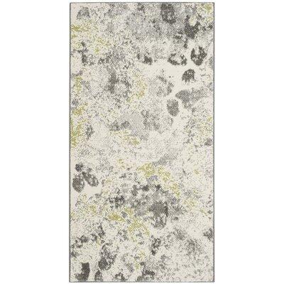 Seybert Beige/Gray Area Rug Rug Size: 53 x 76