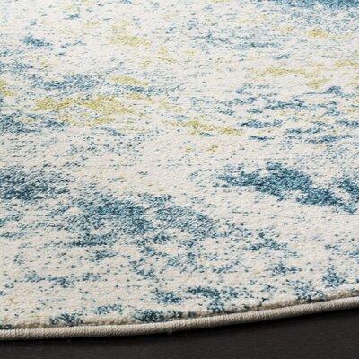 Seyler Beige/Blue Area Rug Rug Size: 8 x 10