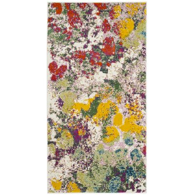 Shankle Green/Red Area Rug Rug Size: 27 x 5