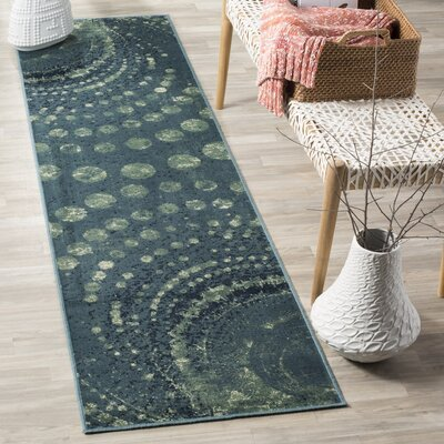 Stave Turquoise Area Rug Rug Size: Rectangle 33 x 57