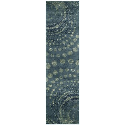 Stave Turquoise Area Rug Rug Size: Runner 22 x 8