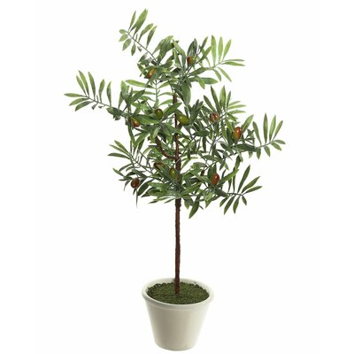 Artificial Green Ficus Olive Tree in Pot