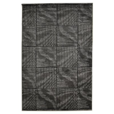 Boler Black/Grey Area Rug Rug Size: Rectangle 5 x 77