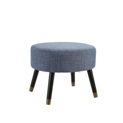 Moderna Mid-Century Ottoman Upholstery: Blue