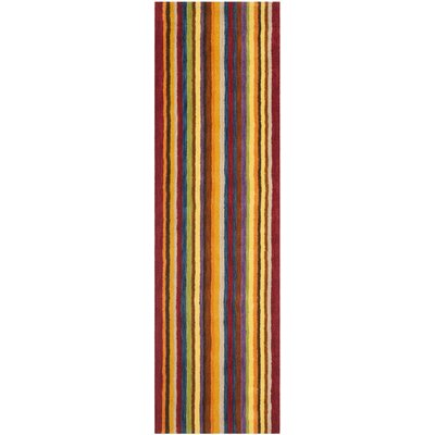 Bolick Hand Woven Wool Yellow/Brown/Orange Area Rug Rug Size: Runner 23 x 6