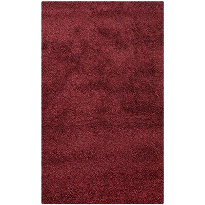 Holliday Flokati Maroon Area Rug Rug Size: 3 x 5