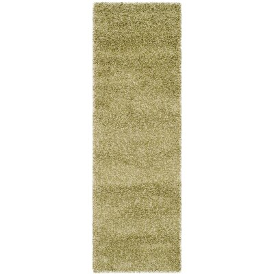 Starr Hill Green Area Rug Rug Size: Runner 23 x 11