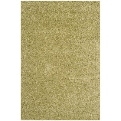Holliday Green Area Rug Rug Size: 53 x 76