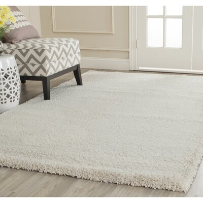 Holliday Solid Ivory Area Rug Rug Size: 10 X 10 Square