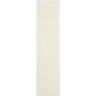 Holliday Solid Ivory Area Rug Rug Size: Runner 2 x 8