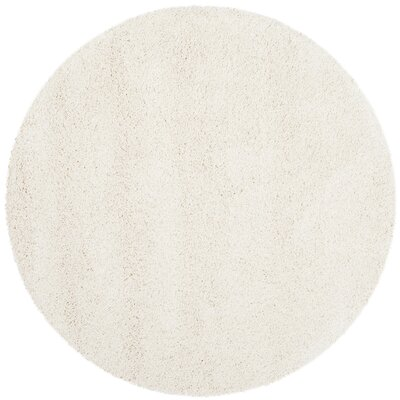 Starr Hill Solid Ivory Area Rug Rug Size: 3 X 3 Round