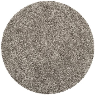 Holliday Grey Rug Rug Size: Round 7