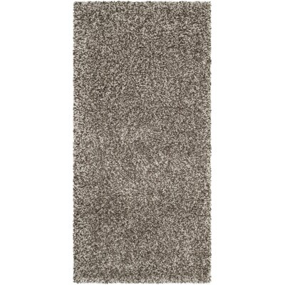 Holliday Grey Rug Rug Size: 2 x 4